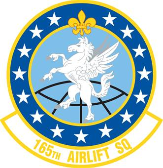 Coat of arms (crest) of the 165th Airlift Squadron, Kentucky Air National Guard