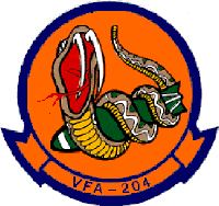 Coat of arms (crest) of the VFA-204 River Rattlers, US Navy