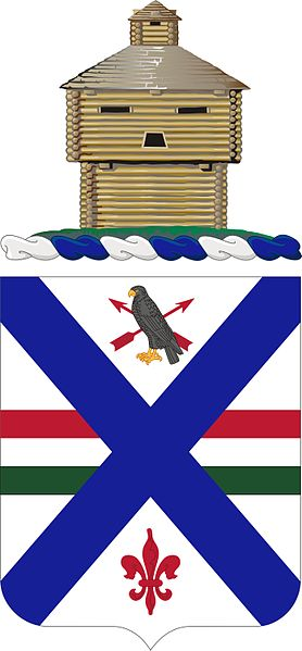Coat of arms (crest) of the 130th Infantry Regiment, Illinois Army National Guard