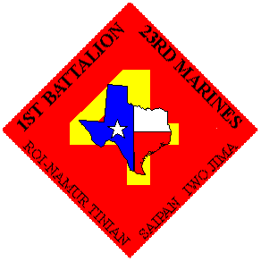 Coat of arms (crest) of the 1st Battalion, 23rd Marines, USMC