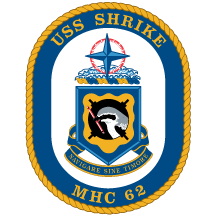 Coat of arms (crest) of the Mine Hunter USS Shrike (MHC-62)