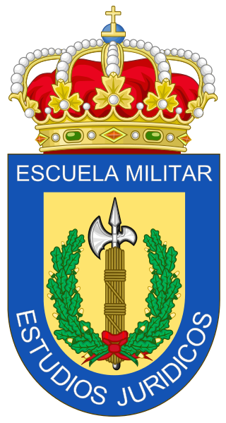 Coat of arms (crest) of the Military School of Legal Studies of the Spanish Armed Forces, Spain