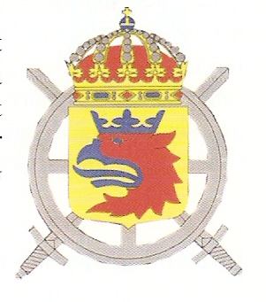 Coat of arms (crest) of the 4th Train Regiment Scanian Train Regiment, Swedish Army