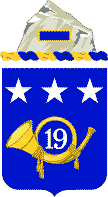 Coat of arms (crest) of the 19th Infantry Regiment, US Army