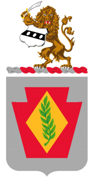 Coat of arms (crest) of the 28th Finance Battalion, Pennsylvania Army National Guard