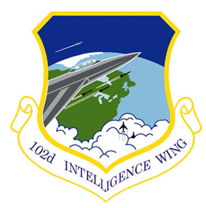Coat of arms (crest) of the 102nd Intelligence Wing, Massachusetts Air National Guard