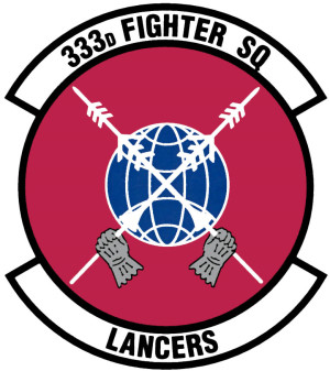 Coat of arms (crest) of the 333rd Fighter Squadron, US Air Force