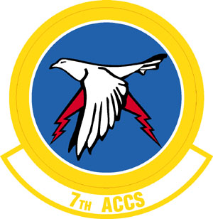 Coat of arms (crest) of the 7th Airborne Command and Control Squadron, US Air Force