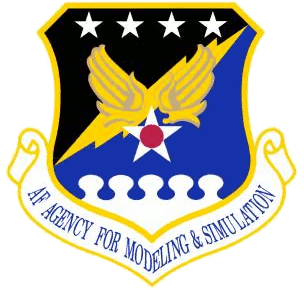 Coat of arms (crest) of the Air Force Agency for Modeling and Simulation, US Air Force