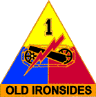 Arms of 1st Armored Division Old Ironsides, US Army