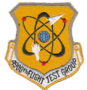 Coat of arms (crest) of the 4900th Flight Test Group, US Air Force