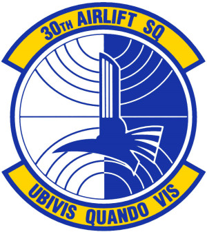 Coat of arms (crest) of the 30th Airlift Squadron, US Air Force