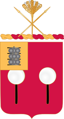 Coat of arms (crest) of the 9th Field Artillery Regiment, US Army