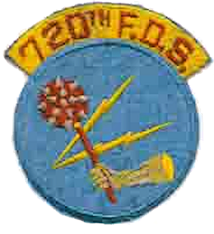 Coat of arms (crest) of the 720th Fighter Day Squadron, US Air Force