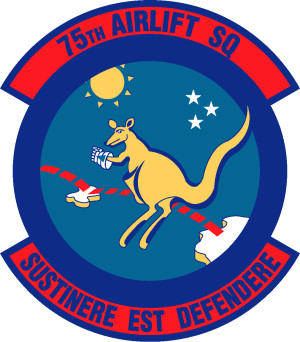 Coat of arms (crest) of the 75th Airlift Squadron, US Air Force