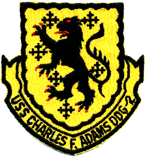 Coat of arms (crest) of the Destroyer Charles F. Adams (DDG-2)