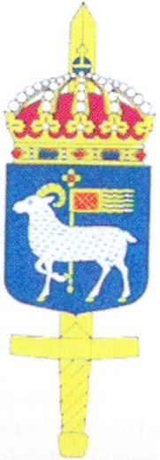 Coat of arms (crest) of the Gotland Military District Staff, Sweden