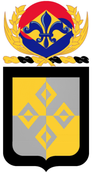Coat of arms (crest) of the 4th Finance Battalion, US Army