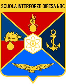 Coat of arms (crest) of the Inter-Arms Atomic, Biological and Chemical Defence School, Italy