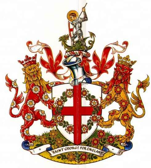 Arms of Royal Society of St George