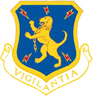 Coat of arms (crest) of the 32nd Air Division, US Air Force