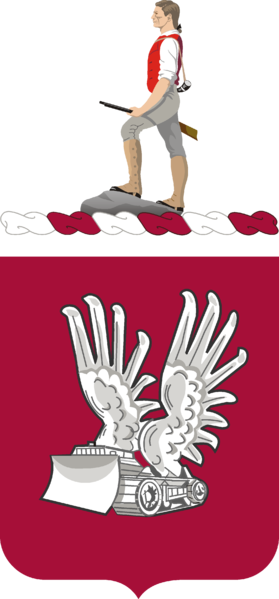 Coat of arms (crest) of the 365th Engineer Battalion, US Army