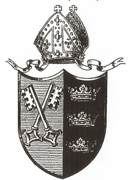 Arms (crest) of Diocese of Gloucester and Bristol (1836-1897)