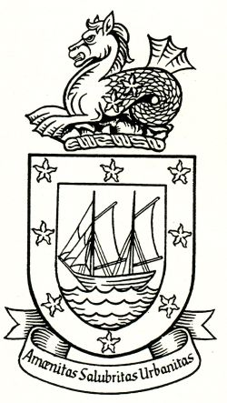 Arms (crest) of Ryde (Isle of Wight)
