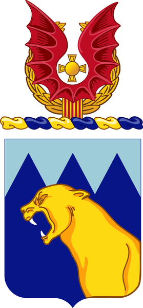 Coat of arms (crest) of the 214th Aviation Regiment, US Army