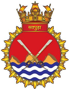 Coat of arms (crest) of the INS Satpura, Indian Navy