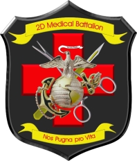 Coat of arms (crest) of the 2nd Medical Battalion, USMC