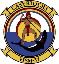 Coat of arms (crest) of the Helicopter Maritime Strike Squadron 37 (HSM-37) Easyriders, US Navy