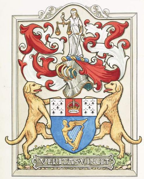 Arms of Law Society of Ireland