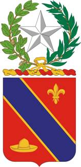 Coat of arms (crest) of the 133rd Field Artillery Regiment, Texas Army National Guard