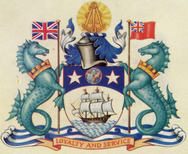 Arms (crest) of Honourable Company of Master Mariners