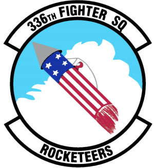 Coat of arms (crest) of the 336th Fighter Squadron, US Air Force