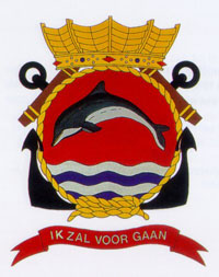 Coat of arms (crest) of the Zr.Ms. Dolfijn, Netherlands Navy