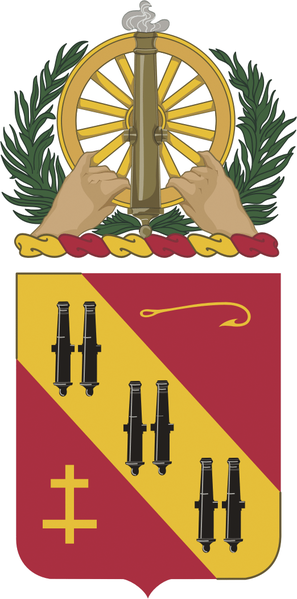 Coat of arms (crest) of the 5th Air Defense Artillery Regiment, US Army