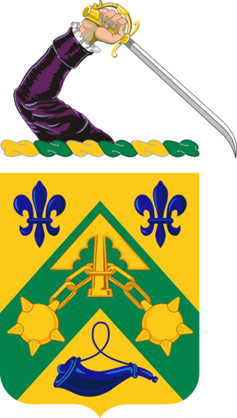Coat of arms (crest) of the 110th Armor Regiment, Massachusetts Army National Guard