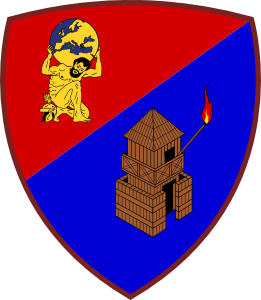 Coat of arms (crest) of the Signal Command, Italian Army