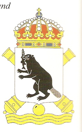 Coat of arms (crest) of the 5th Coastal Artillery Regiment Härnösand Coastal Artillery Regiment, Swedish Navy