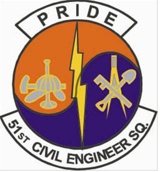 Coat of arms (crest) of the 51st Civil Engineer Squadron, US Air Force
