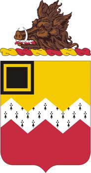 Coat of arms (crest) of the 80th Field Artillery Regiment, US Army