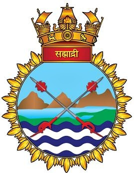 Coat of arms (crest) of the INS Sahyadri, Indian Navy