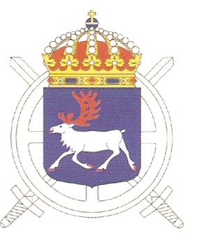 Coat of arms (crest) of the 3rd Train Regiment Norrland Train Regiment, Swedish Army