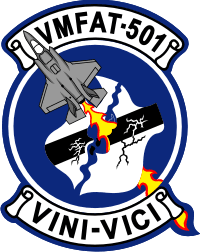 Coat of arms (crest) of the VMFAT-501 Warlords, USMC