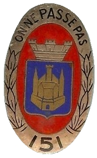 Coat of arms (crest) of the 151st Infantry Regiment, French Army
