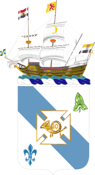 Coat of arms (crest) of the 210th Armor Regiment, New York Army National Guard