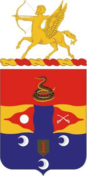 Coat of arms (crest) of the 6th Field Artillery Regiment, US Army