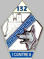 Coat of arms (crest) of the 132nd Army Doghandling Battalion, French Army